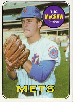 1969 Topps #601 Tug McGraw Front