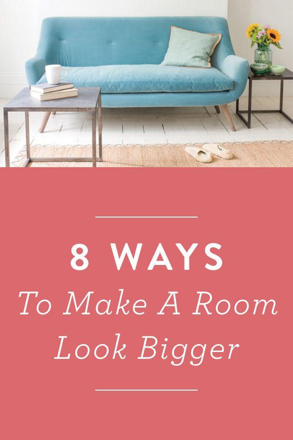 8 ways to make a room look bigger via @PureWow Then Call PJ for 8 or more great designer destination wedding venues! http://www.destinationweddings.travel/default.asp?sid=21795&pid=32263