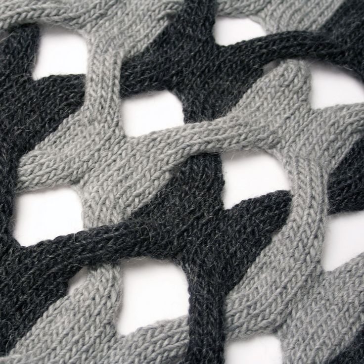 A different and modern looking interpretation of knitted cables: Interweave Shawl by cari + carl