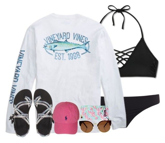 """""""First summer set of the year!"""" by preppy-horsegirl ❤ liked on Polyvore featuring Xhilaration, Paul Smith, Chaco, Polo Ralph Lauren and Lilly Pulitzer"""