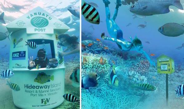 World's first #Underwater #PostOoffice lets tourists send postcards home from under the sea #Holiday #Sightseeing