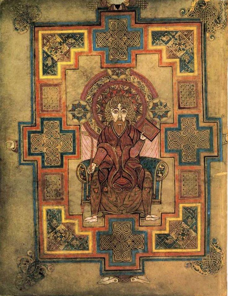 Евангелист Иоанн. Келлская книга. нач.9 в. Дублин.