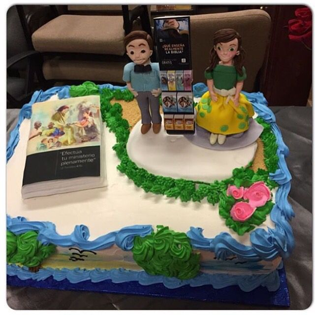 Cake made for a Pioneer School in California. Would you like a slice? (Credit: @aaaguerritaayala)