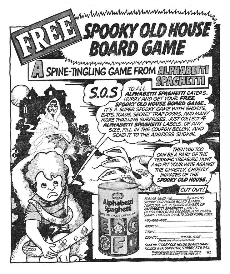 Crosse & Blackwell Alphabetti Spaghetti Spooky Ad 1975