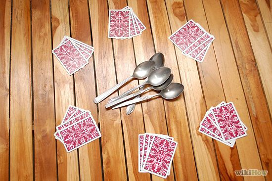 How to Play Spoons (Card Game) (with Rule Sheet) - wikiHow