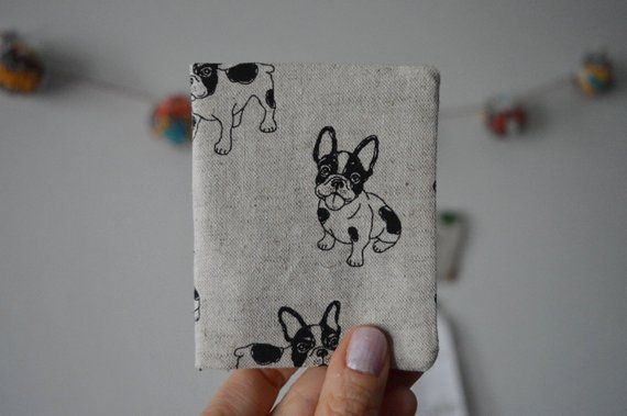 d601c247f983 French Bulldog Wallet, Credit Card Holder, Bus Pass Holder, Travel ...