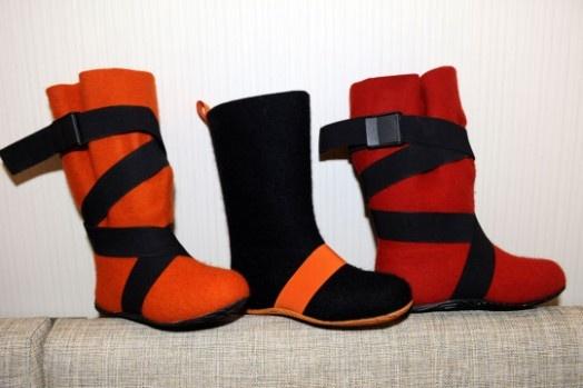 Aki Choklat felt shoes