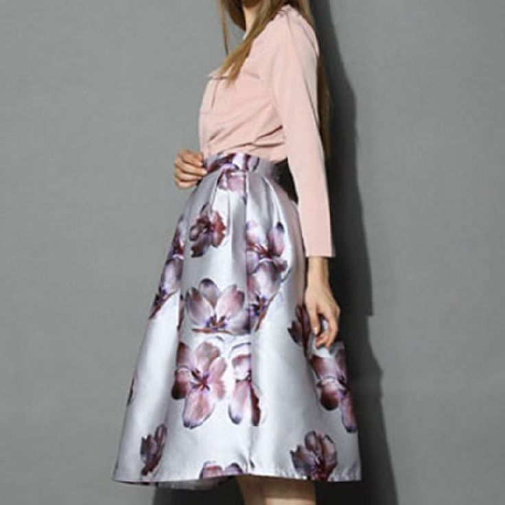 Herfst Winter Lange Rok Elegante Vintage Rok Vrouwen Bloemenprint Geplooide Hoge Taille Vrouwen Rokken Bloemen(China (Mainland))