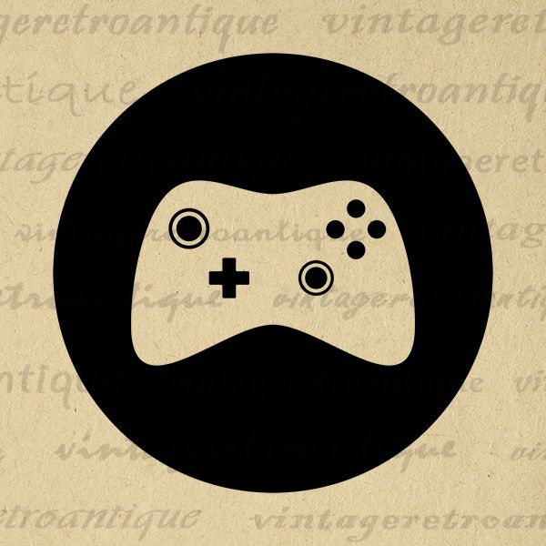 Digital Printable Video Game Icon Image Gamepad Controller Graphic Download Antique Clip Art Jpg Png Eps Print 300dpi No.4520 @ vintageretroantique.com #DigitalArt #Printable #Art #VintageRetroAntique #Digital #Clipart #Download #Vintage #Antique #Image #Illustration