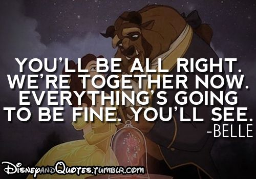 beauty and the beast! Disney movies are the best!
