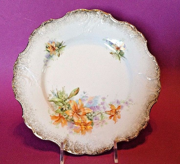 Rim Is Embossed Scalloped And Gilded. To Canada Australia And Japan. | eBay!