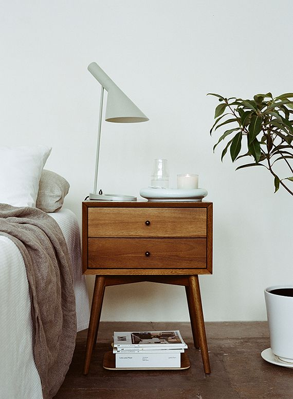 Midcentury modern nightstand | Kinfolk
