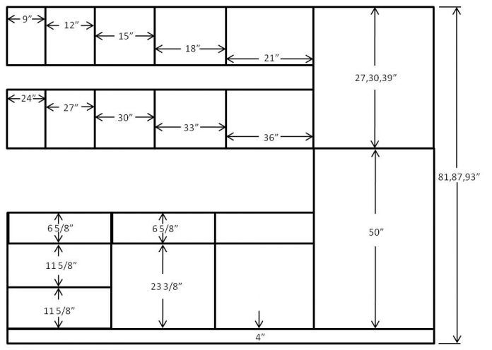 Kitchen Cabinet Dimensions Kitchen Cabinet Size Chart ...