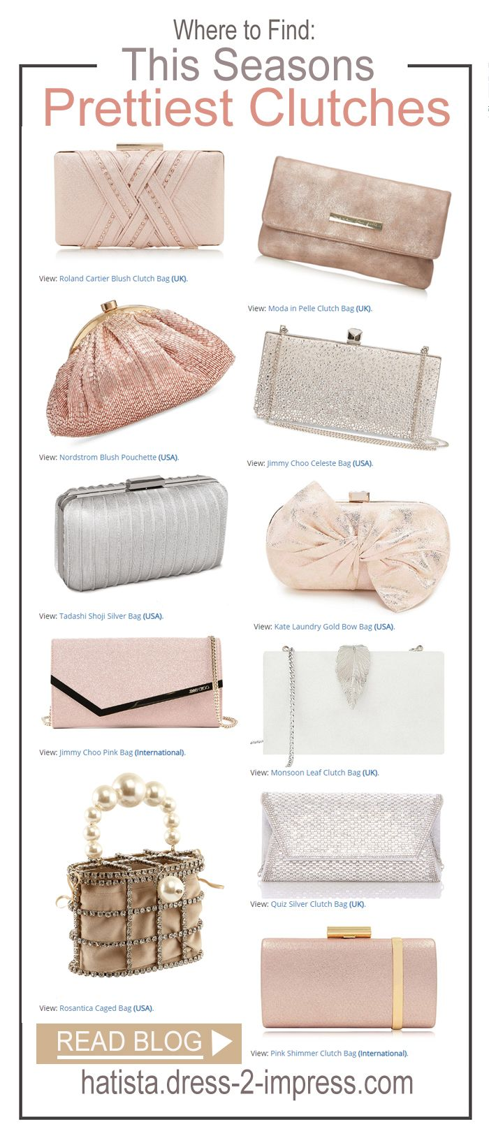 Pretty Clutch Bags for Weddings. Mother of the Bride Clutch