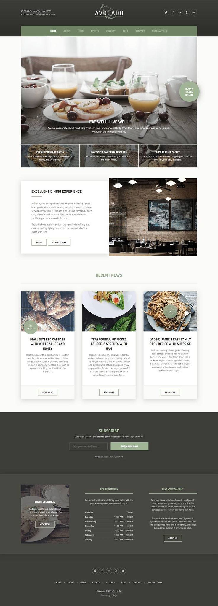 Avocado is a modern, unique and fully responsive WordPress themes for…