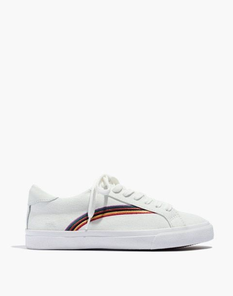 5488c316879814 Women s Sidewalk Low-Top Sneakers in Rainbow Embroidered Canvas ...