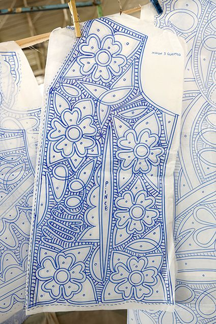 Bruges lace or Romanian Point Lace vest pattern--sides