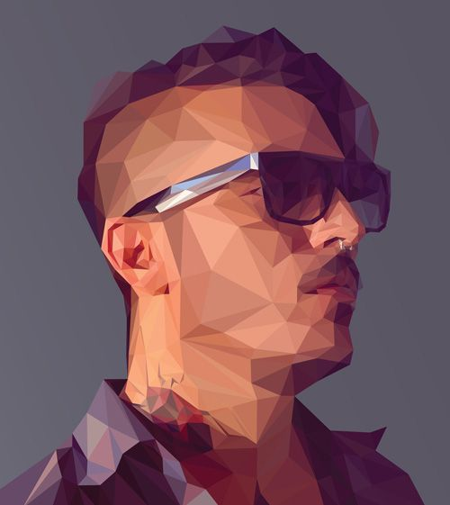 Create a Low-poly Portrait in Adobe Illustrator Tutorial #lowpoly…