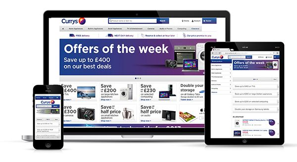 This website for the UK electronics retailer Curry's is anything but beautiful. It is important to see how an online retailer with a HUGE stock of products can make a responsive web design work effectively. What it lacks in visual appeal it makes up for in usability. Everything on this site is organised and has a purpose. Large navigation buttons and search function which makes searching for particular products a breeze. This site certainly makes purchases simple for customers on any device.