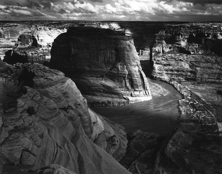 Canyon de Chelly, Arizona, 1941, Ansel Adams, public domain via Wikimedia Commons.