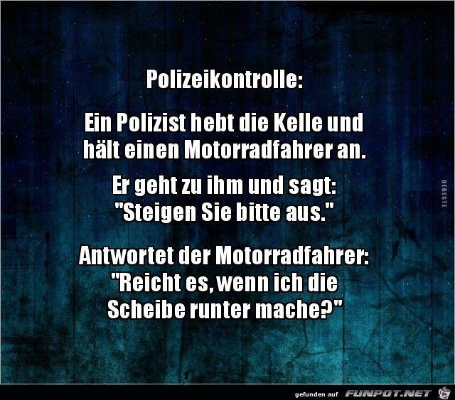 Polizeikontrolle……