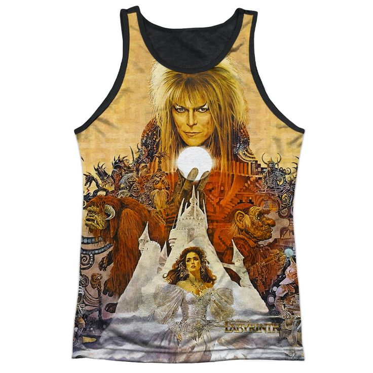 """Checkout our #LicensedGear products FREE SHIPPING + 10% OFF Coupon Code """"Official"""" Labyrinth/cover Art-adult Poly Tank Top T- Shirt - Labyrinth/cover Art-adult Poly Tank Top T- Shirt - Price: $24.99. Buy now at https://officiallylicensedgear.com/labyrinth-cover-art-adult-poly-tank-top-shirt-licensed"""