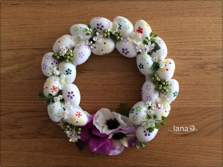 Veľkonočný venček - Easter door wreath free tutorial