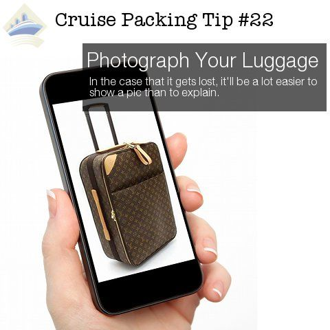 cruise packing tip 22 - photograph luggage tip 23 are smart tips