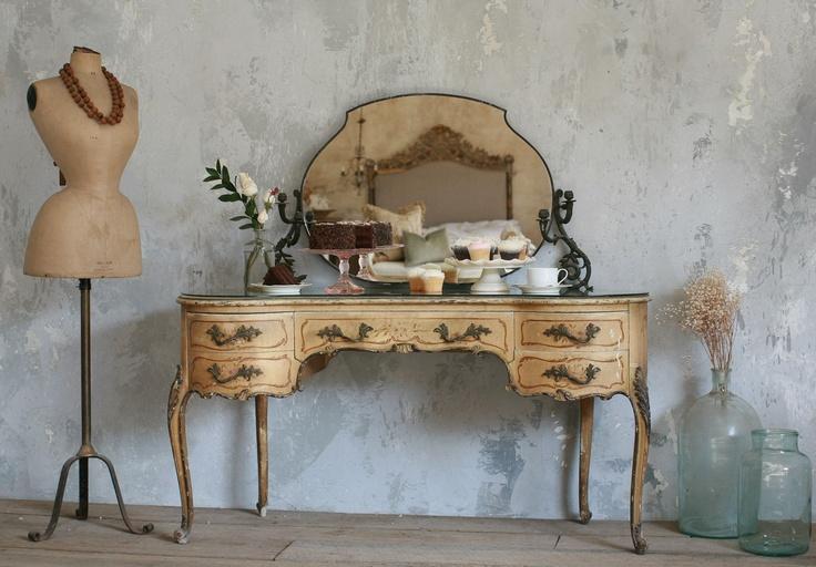Style Shabby Shabby Chic Vintage Vanity French Vanity Antique Vanity