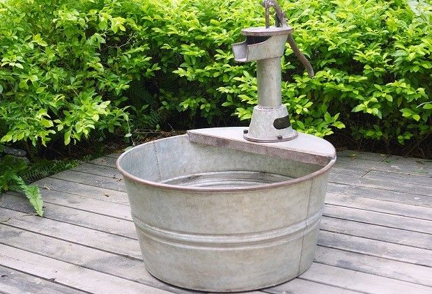 698 best images about galvanized treasures on pinterest for Tin tub planters