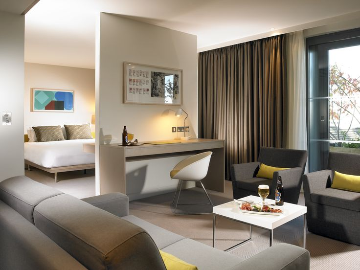Junior Suite with terrace overlooking the river liffey.
