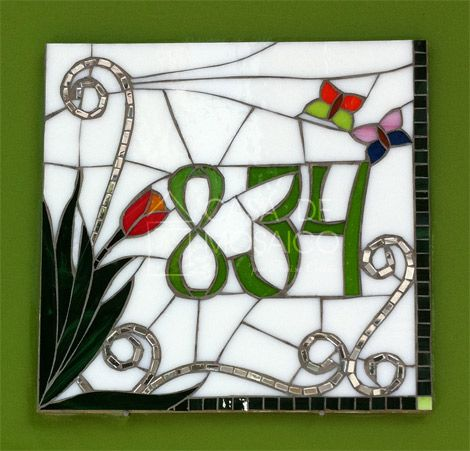 House of Mosaic - Numbers - Number mosaic for residence (30x30 cm)