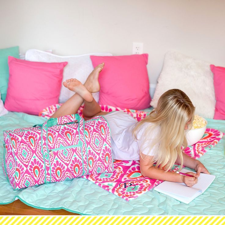 27bd41415920 Girls Beachy Keen Personalized Duffel Bag and Blanket by  SouthernMeadowDesign
