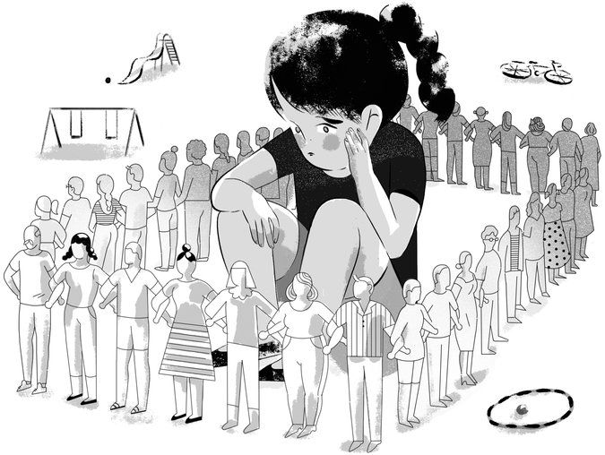 Why are Americans so afraid to give their kids room to roam? Continue reading this opinion essay at The New York Times. (Illustration: Rebekka Dunlap)