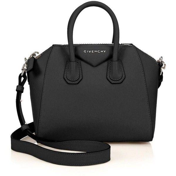 Givenchy Antigona Mini Leather Satchel (£1,380) ❤ liked on Polyvore featuring bags, handbags, purses, bolsas, givenchy, apparel & accessories, leather satchel purse, leather satchel, givenchy handbags and mini handbags