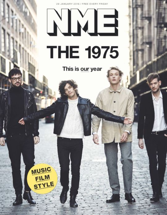 The 1975 NME cover story January 2016 loved this issue purely cuz matty was on it
