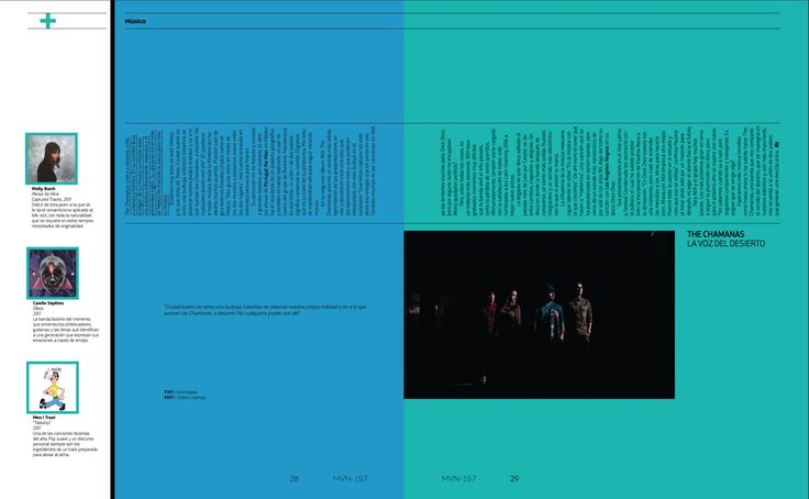 Música: The Chamanas #TheChamanas #MinimalDesign  #Minimal #RevistaMarvin #Marvin #ArtDirection #Magazine #EditorialDesign #Editorial #GraphicDesign