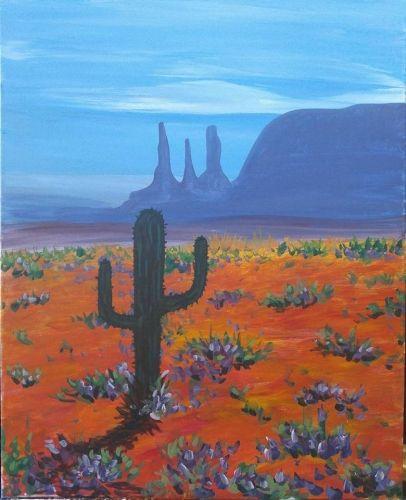 cactus bloom ii paint nite painting painting