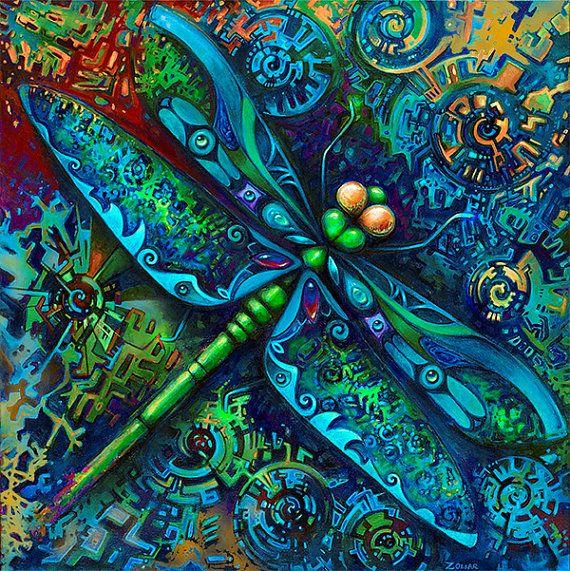 Die Libelle ist solch ein schönes Bild, Transformation und die brillante Flüchtigkeit Lebenserfahrungen darstellt.  Titel: Dragonfly Größe: 7,75 x 7,75  Bild auf 8 x 10 Premium-Papier. Medien: Dies ist ein 8 x 10 Druck von einem Acryl-Malerei. Künstler: Laura Zollar  Das Bild misst 7,75 x 7,75  und ist auf einen 8 x 10 archival Qualität Karton gedruckt. Der Druck ist auf der Vorderseite unterzeichnet.  Das Bild wurde fotografiert, um die ursprüngliche Farben darstellen, aber Ihr…