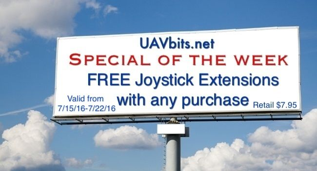 #free joystick extensions for your #DJI #quadcopter #controller with purchase of any product starts tomorrow :)
