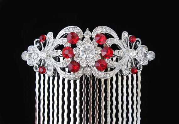 red bridal jewelryred bridal hair accessoriesred bridal