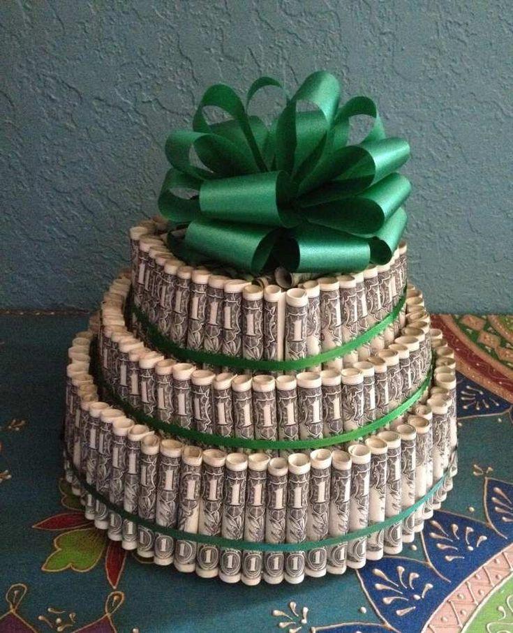 dreistufige Torte als Hochzeitsgeschenk selber machen