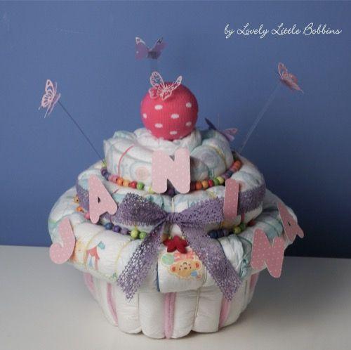 Diaper cupcake / Windeltorte