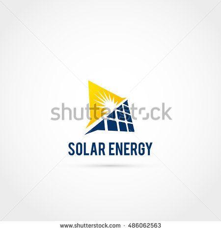 Solar Sun Panel Logo Icon + solar energy