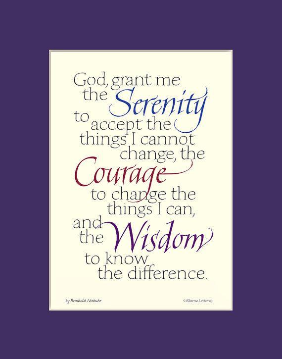 Serenity Prayer 8x10 Serenity Prayer print aa by InkMonkeyPress