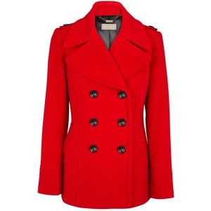 Red Pea Coat... I need one this year!