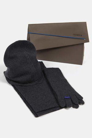 Ring Cashmere Gloves Scarf, Hat Indigo/Ultramarine