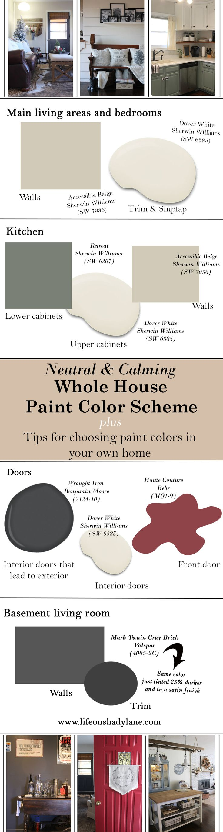 517 best sherwin williams color magic images on pinterest for Whole house neutral paint colors
