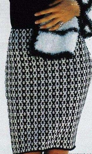 Юбка спицами http://handlife.ru/vazanie/yubka-spicami.html