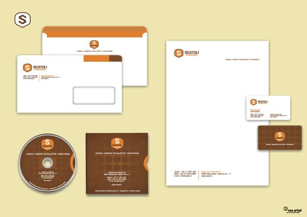 Scatoli International corporate ID and branding by neoarted, via Behance